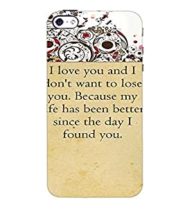PrintDhaba Quote D-4715 Back Case Cover for APPLE IPHONE 4S (Multi-Coloured)