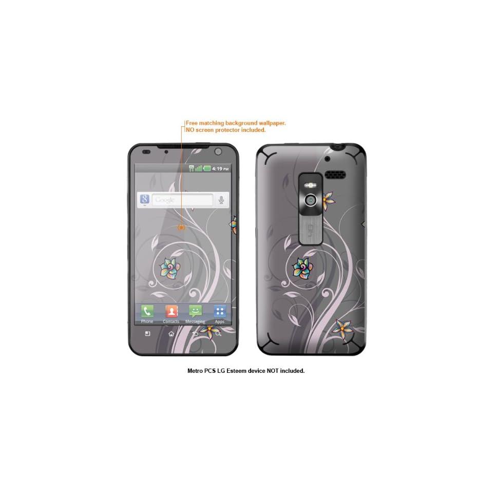 Protective Decal Skin Sticker for Metro PCS LG Esteem 4G case cover Esteem 222