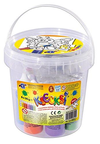 feuchtmann-giocattoli-6336211-klecksi-vernice-dito-puzzle-set-farfalla-12-pezzi