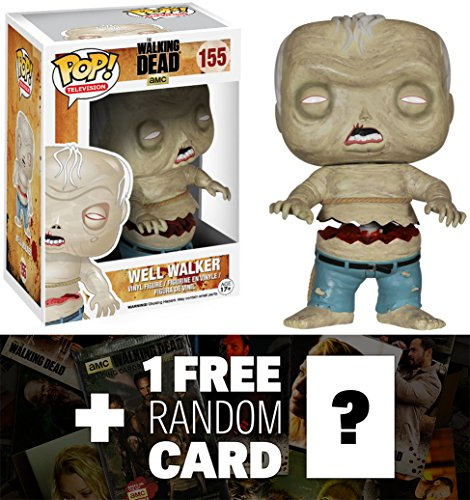 Well Walker: Funko POP! x Walking Dead Vinyl Figure + 1 FREE Official Walking Dead Trading Card Bundle [42622]