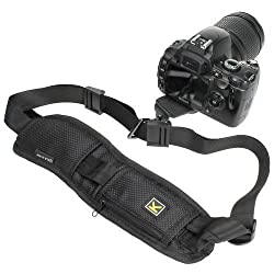 Quick Rapid Camera Single Shoulder Sling Belt Strap harness, Konsait Adjustable Length Camera Neck Shoulder Strap slide for Canon Nikon Olympus Pentax Panasonic Sony DSLR SLR (Black)