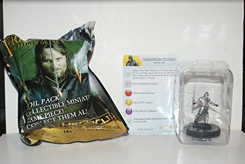 HeroClix The Lord Rings The Return King Gondorian Soldier 004 w/ Card (Heroclix Lord Of The Rings compare prices)
