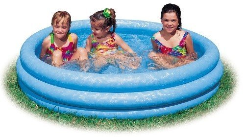 Inflatable Crystal Blue Swimming Pool (45in X 10in) - 1