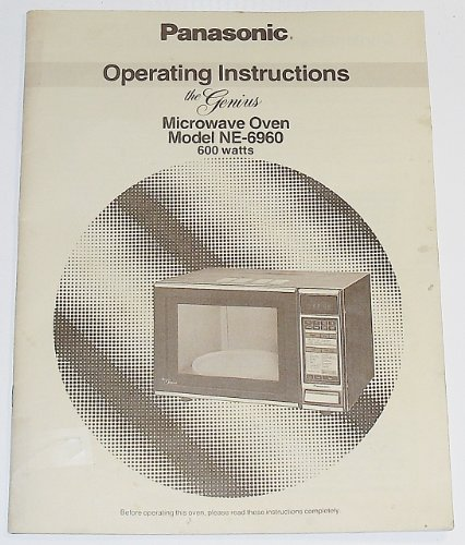 Operating Instructions For The Genius Microwave Oven Model Ne-6960 600 Watts