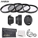 Alcoa Prime Andoer 58mm Camera Lens Filter Kit ( UV + CPL + Star+8 + Close-up+4 ) With Lens Cap Holder Tulip &...