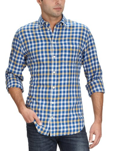 Marc O'Polo Men's 229 1256 42376 Casual Shirt Blue (821 Limoges) 52