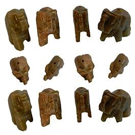 Incienso titular 12 Pack esteatita elefante carácter token fragancia hogar accesorio decorativo