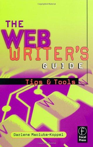 The Web Writer's Guide, Darlene Maciuba-Koppel