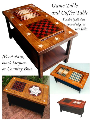 Americana Game Table Coffee Table