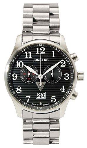 Junkers Herren-Armbanduhr Chronograph Quarz Edelstahl 6686M2