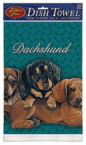 Kitchen Towel--Dog Design--Dachshund Puppies--Printed in the USA--22