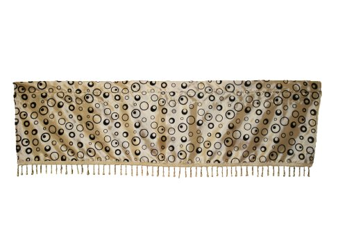 Silky Bombay Design Curtain Valance Color: Beige