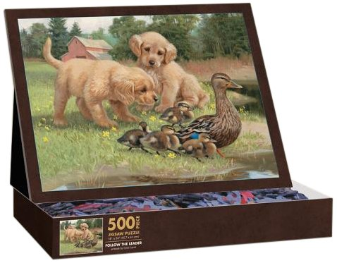 Lang Follow The Leader by Jim Lamb Jigsaw Puzzle (500-Piece) - 1