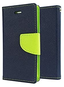 FONOVO Mercury Fancy Diary Wallet Flip Case Cover forSamsung note edge (Blue Green)
