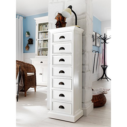 Coastal White Halifax 7 Drawer Lingerie Chest (Kenmore Microwave Bracket compare prices)