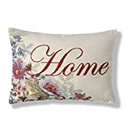 Home Jacquard Floral Cushion