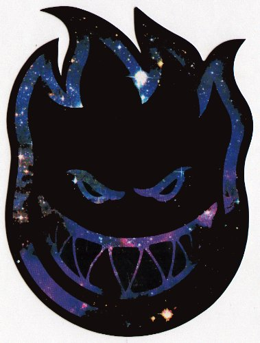 Spitfire Wheels Skateboard Sticker - Bighead Space Burn skate board skating new