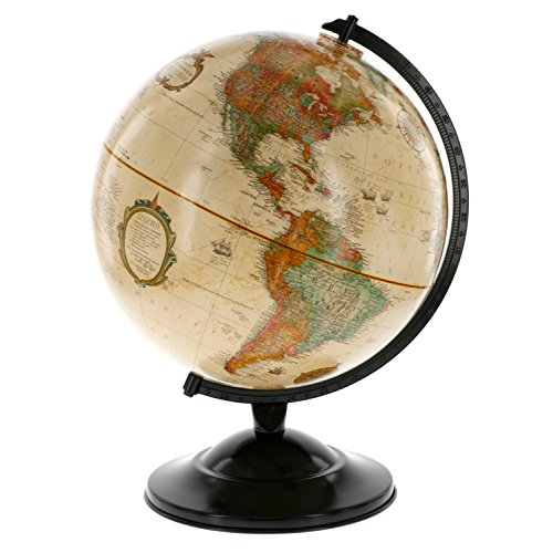 "Globe With Antique Shading - Raised Relief Topographical Political Globe - 2016 Country Lines (12"" Diameter) 0"