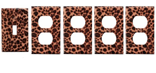 Leopard Light Switch Cover + 4 Outlet Covers Reviews