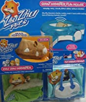 Zhu Zhu Pets Stores - Zhu Zhu Pets Mr. Squiggles Hamster Set complete with Giant Funhouse, Pet Bed, Pet Carrier and Pet Blankets with original name Go Go Pets embroidered on them, no longer produced.