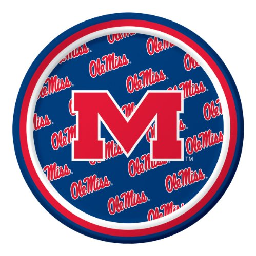 Creative Converting University of Mississippi Rebels Dessert Paper Plates (8 Count) - 1