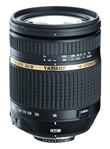 Tamron AF 18-270mm f/3.5-6.3 Di II VC LD Aspherical IF Macro Zoom Lens with Built in Motor for Nikon DSLR Cameras (Model B003NII)