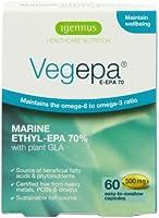 Igennus Vegepa E-EPA 70 - high-EPA omega-3 fish oil and omega-6 GLA from organic virgin evening primrose oil - 500mg - 60 capsules