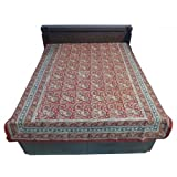 """60X90"""" Bagru Print Block Print Double Bed Spread- Double Bed Cover- Double Bed Sheet - Online Shopping For Home... - B00G8V8OW6"""