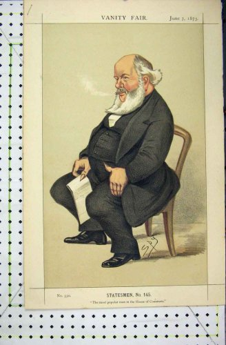 1873 Vanity Fair Cartoon Robert Dalglish M.P Spy Print