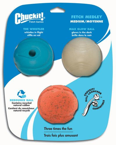 Chuckit! Fetch Medley Balls Medium 2.5-inch, 3 pack
