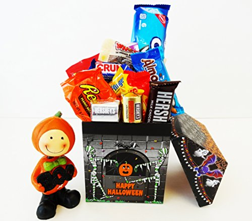 Unlocking Greatness You Are LOVED Halloween Bobblehead, Chocolate and Candy Gift Basket (Halloween Candy Baskets)