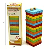 Darius 48pcs Classic Wooden Tumbling Tower Blocks Drinking Game