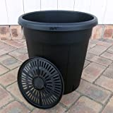 果樹鉢:ブラック 310型(12号)2個セット[直径31cm、高さ32cm 果樹・花木用]