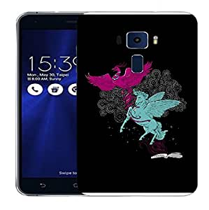 Snoogg Flying Bird And Horse Designer Protective Back Case Cover For ASUS ZENFONE 3 ZE520KL