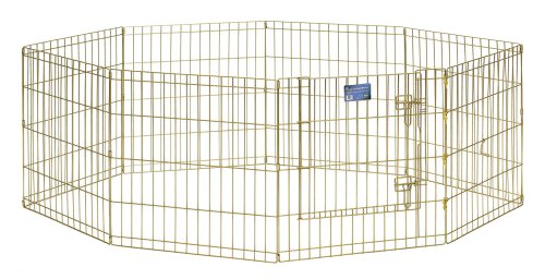 Midwest Gold- Zinc Indoor Outdoor Exercise Pet Pen 24W x 24HB0002AT3JM