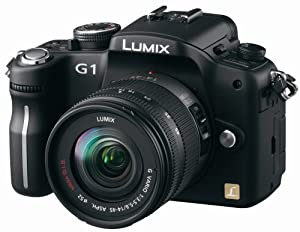 Panasonic Lumix DMC-G1 12.1MP Micro Four Thirds Interchangeable Lens Digital Camera with Lumix G Vario 14-45 mm f/3.5-5.6 ASPH Mega OIS Lens (Black)