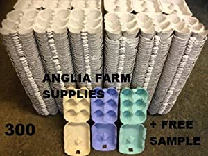 300 X 1/2 DOZEN NEW GREY EGG BOXES FOR CHICKEN DUCK HEN EGGS with our free sample coloured egg boxes