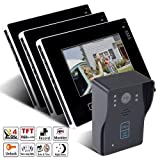 Keedox® 9 Inch 1-Camera 3-Monitor Hotel Villa Home Wired Security Doorbell Ultra-slim Full-touch Screen Color TFT LCD Video Door Phone