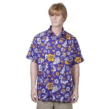 Louisiana State University Purple Hawaiiabera Shirt
