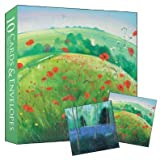 Notecards - 10 blank notelets in a box, 5 each of Poppy Field and Bluebell Wood - perfect as thank you cardsby Almanac Gallery