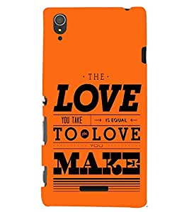printtech Love Make Back Case Cover for Sony Xperia T3