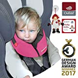 NUEVO: SANDINI SleepFix S Outlast - niños almohada de seguridad (coche/bicicleta) - NUEVO AJUSTE - Set completo - ROSA - Incluye bolsa
