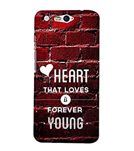 LOVE Designer Back Case Cover for Infocus M812