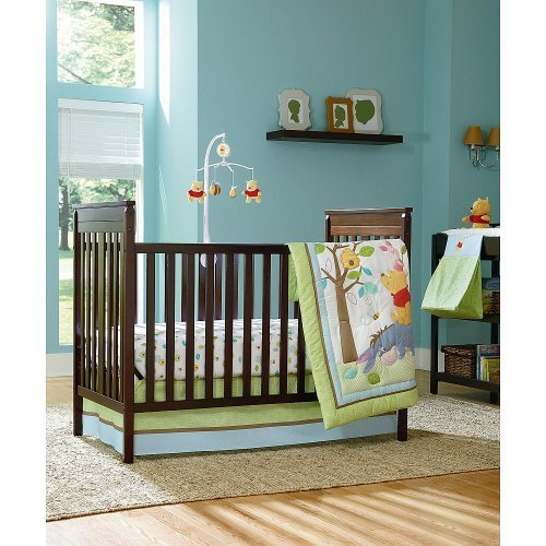 Disney Baby Winnie the Pooh 4-Piece Crib Bedding Set by Disney