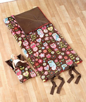 Matching Girl and Doll Sleeping Bags (Owl)