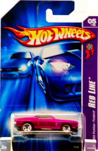 2006 - Mattel - Hot Wheels - Red Line Series 5 of 5 - 1969 Pontiac Firebird T/A (Metallic Fuschia) 100 / 223 - Red Line Wheels - 3rd Red Line Segment - Out of Production - New - Rare - Collectible