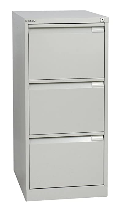 Office Hippo Bisley Classic Three Drawer Filing Cabinet - Goose Grey