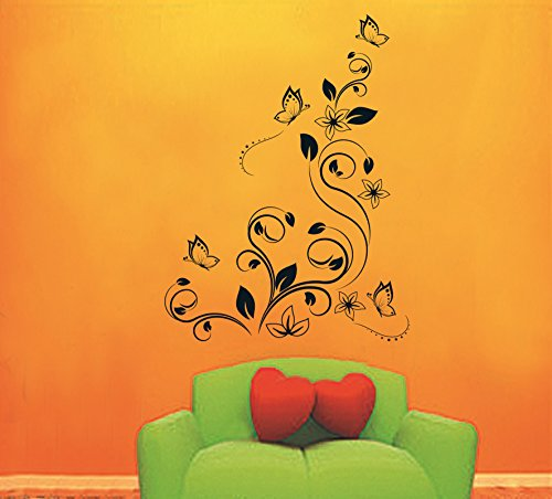 Tree Butterfly Flower Vine Removable Wall Vinyl Sticker Decals Wallpaper Lx5716 front-55604