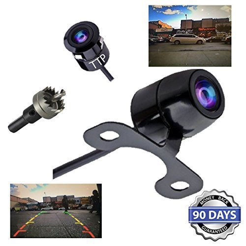 TTP C12B Backup Camera 2-in-1, Rear View, Front View - Reverse Camera - Best For Trucks, Cars, Rv & All Vehicles - 100% Waterproof (E46 Front Bumper compare prices)