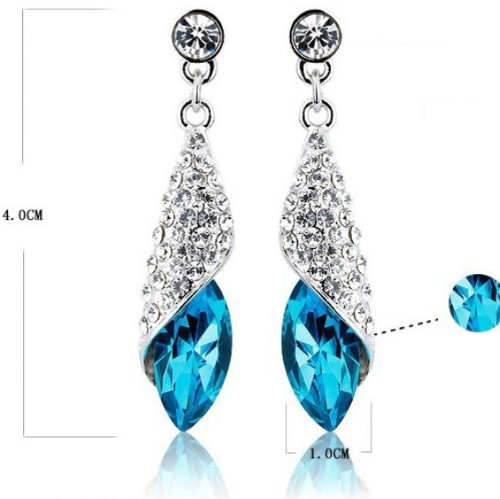 Austrian Crystal Made with Swarovski Elements Earrings For Women
